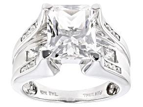 White Danburite 10k White Gold Ring 4.05ctw