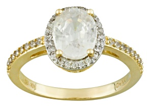 White Zircon 10k Yellow Gold Ring 2.63ctw