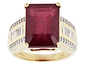 Mahaleo Ruby 10k Yellow Gold Ring 9.07ctw