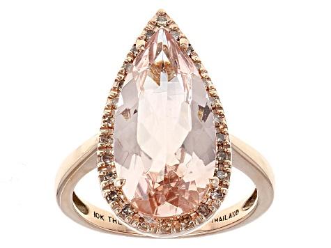 d1956bfa3 Pink Morganite 10k Rose Gold Ring 4.34ctw - AOL076 | JTV.com