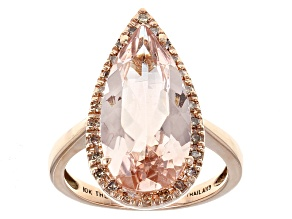 Pink Morganite 10k Rose Gold Ring 4.34ctw