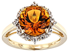 Orange Madeira Citrine 10k Yellow Gold Ring 3.31ctw