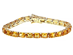 Orange Madeira Citrine 10k Yellow Gold Bracelet 18.06ctw