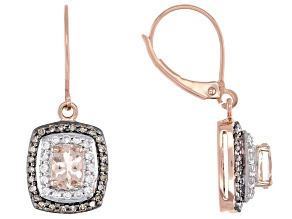 Pink Cor-de-Rosa Morganite™ 10k Rose Gold Earrings 1.11ctw