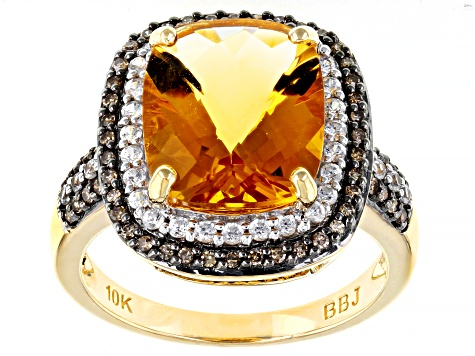 Golden Citrine 10k Yellow Gold Ring 4.20ctw