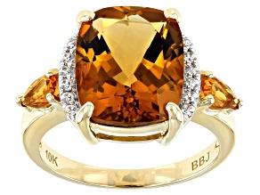 Golden Citrine 10k Yellow Gold ring  4.00ctw