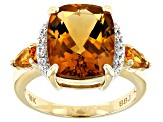 Golden Citrine 10k Yellow Gold ring  4.00ctw