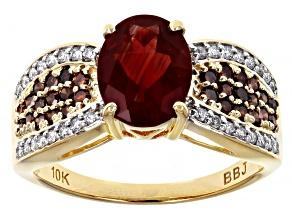 Red Labradorite 10k Yellow Gold Ring 1.78ctw