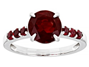 Red Labradorite Rhodium Over 10k White Gold Ring 1.77ctw