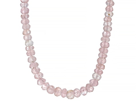 Pink Morganite 14k Yellow Gold Children's Necklace 50.00ctw