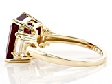 Red Mahaleo® Ruby 10k Yellow Gold Ring 5.79ctw
