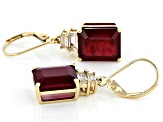 Red Mahaleo® Ruby 10k Yellow Gold Earrings 14.73