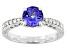 Blue Tanzanite Rhodium Over 10k White Gold Ring 1.22ctw