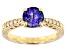 Blue Tanzanite 10k Yellow Gold Ring 1.22ctw