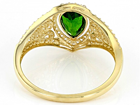 Green Chrome Diopside 10k Yellow Gold Ring 1.91ctw