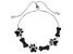 Black spinel rhodium over silver bolo bracelet 2.85ctw