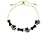 Black spinel 18k gold over silver bolo bracelet 2.85ctw