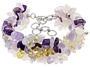 Purple amethyst sterling silver bracelet