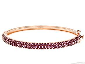 Purple raspberry color rhodolite 18k gold over silver bracelet