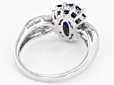 Blue Kyanite Rhodium Over Silver ring 1.90ctw