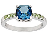 London blue topaz rhodium over sterling silver ring 1.65ctw
