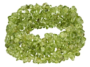 Green Mixed Shape Peridot Chip Stretch Bracelet