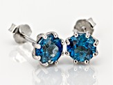 London Blue Topaz Rhodium Over Sterling Silver Earrings 1.74ctw