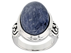 Blue Sodalite Sterling Silver Ring