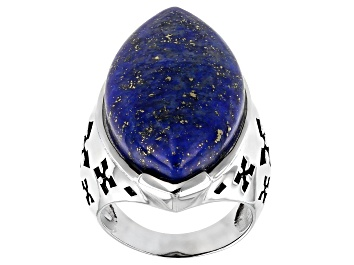 Picture of Blue lapis lazuli sterling silver ring
