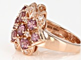Pink Masasi Bordeaux Garnet™18k Rose Gold Over Sterling Silver Ring 3.68ctw