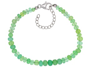 Green Chrysoprase Sterling Silver Bracelet