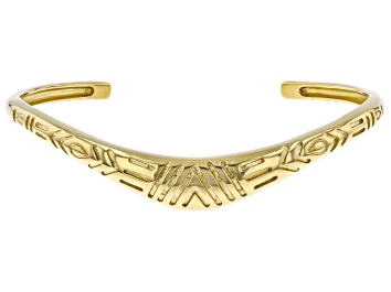 Picture of 18K Yellow Gold Over Silver Boomerang Bracelet