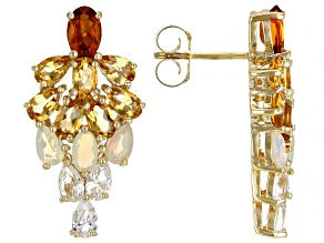 Citrine 18K Yellow Gold Over Silver Earrings 4.68ctw