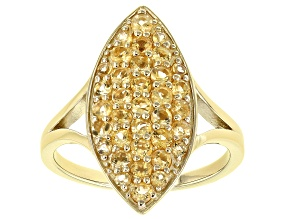 Yellow Citrine 18K Yellow Gold Over Sterling Silver Ring 0.90ctw