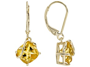 Yellow Citrine 18K Yellow Gold Over Sterling Silver Earring 3.74ctw
