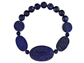 Blue lapis Lazuli Beaded Stretch Bracelet