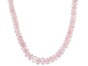 Pink Morganite 18K Rose Gold Over Sterling Silver Necklace