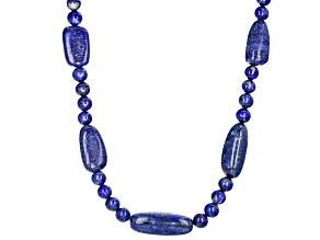 Blue Lapis Lazuli Bolo Style Necklace