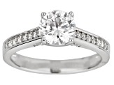 White Cubic Zirconia Rhodium Over Sterling Silver Engagement Ring 3.40ctw