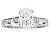 White Cubic Zirconia Rhodium Over Sterling Silver Engagement Ring 2.90ctw