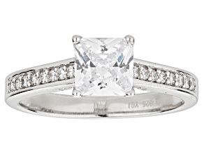 Bella Luce ® 2.60ctw Rhodium Over Sterling Silver Princess Cut Engagement Ring