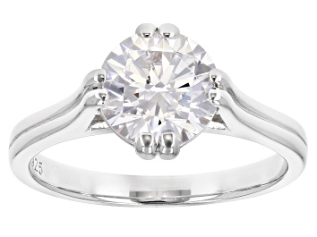 Picture of White Cubic Zirconia Rhodium Over Sterling Silver Ring 3.45ctw