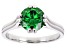 Green Cubic Zirconia Rhodium Over Sterling Silver Ring 3.32ctw