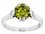 Green Cubic Zirconia Rhodium Over Sterling Silver Ring 3.54ctw