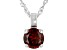 Red Cubic Zirconia Rhodium Over Sterling Silver Pendant With Chain 3.31ctw