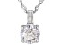 White Cubic Zirconia Rhodium Over Sterling Silver Pendant With Chain 3.45ctw