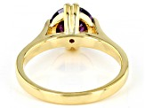 Purple Cubic Zirconia 18 Yellow Gold Over Sterling Silver Ring 3.62ctw