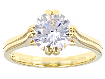 Picture of White Cubic Zirconia 18K Yellow Gold Over Sterling Silver Ring 3.45ctw
