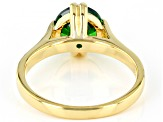 Green Cubic Zirconia 18K Yellow Gold Over Sterling Silver Ring 3.32ctw