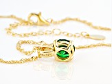 Green Cubic Zirconia 18K Yellow Gold Over Sterling Silver Pendant With Chain 3.32ctw